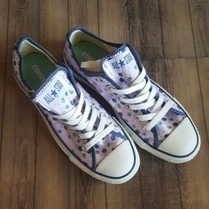 Converse All-Star low top purple navy floral